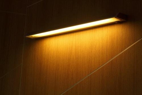 Neon tube yellow light